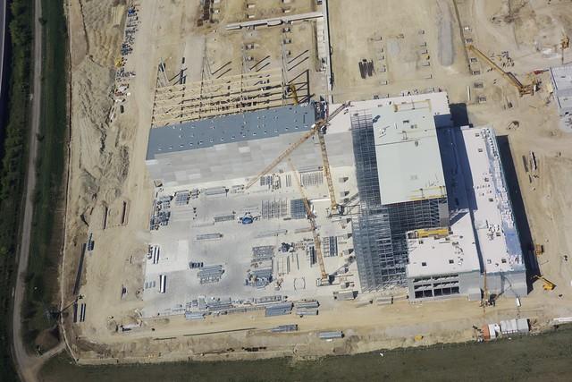 Building site LIDL Logistics Centre - from above (Lower Austria)
