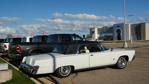 1964 Imperial Crown Coupe & 2019 Ram 3500 Laramie Crew Cap Long Box Pick-Up Photo