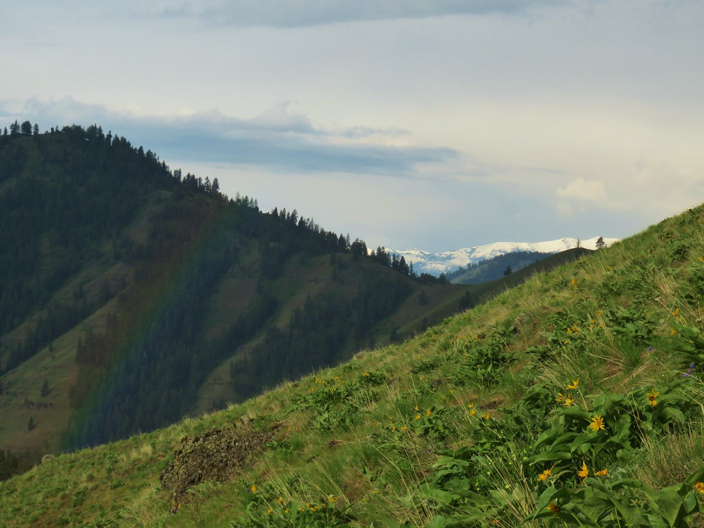 Rainbow Framing the Wallowa Mountains