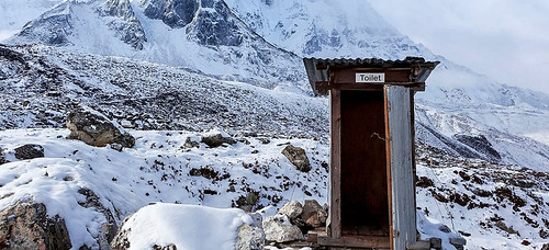 Outhouse on Khumbu glacier. From Daniel Mazur and the redemption of Mt. Everest
