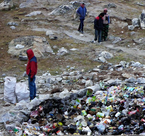 Garbage at Gorak Shep. From Daniel Mazur and the redemption of Mt. Everest