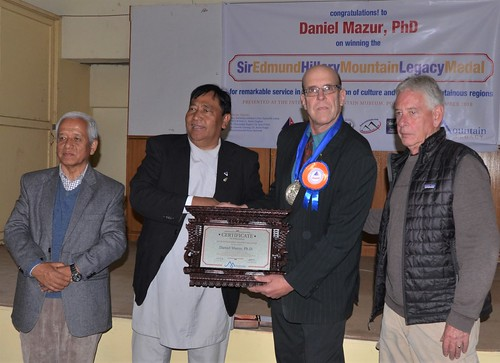Dr. Ganesh Gurung, NMA President Santa Bir Lama, Dan Mazur, and ScottMacLennan. From Daniel Mazur and the redemption of Mt. Everest