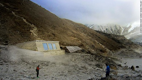 Mt Everest biogas project as projected. From Daniel Mazur and the redemption of Mt. Everest