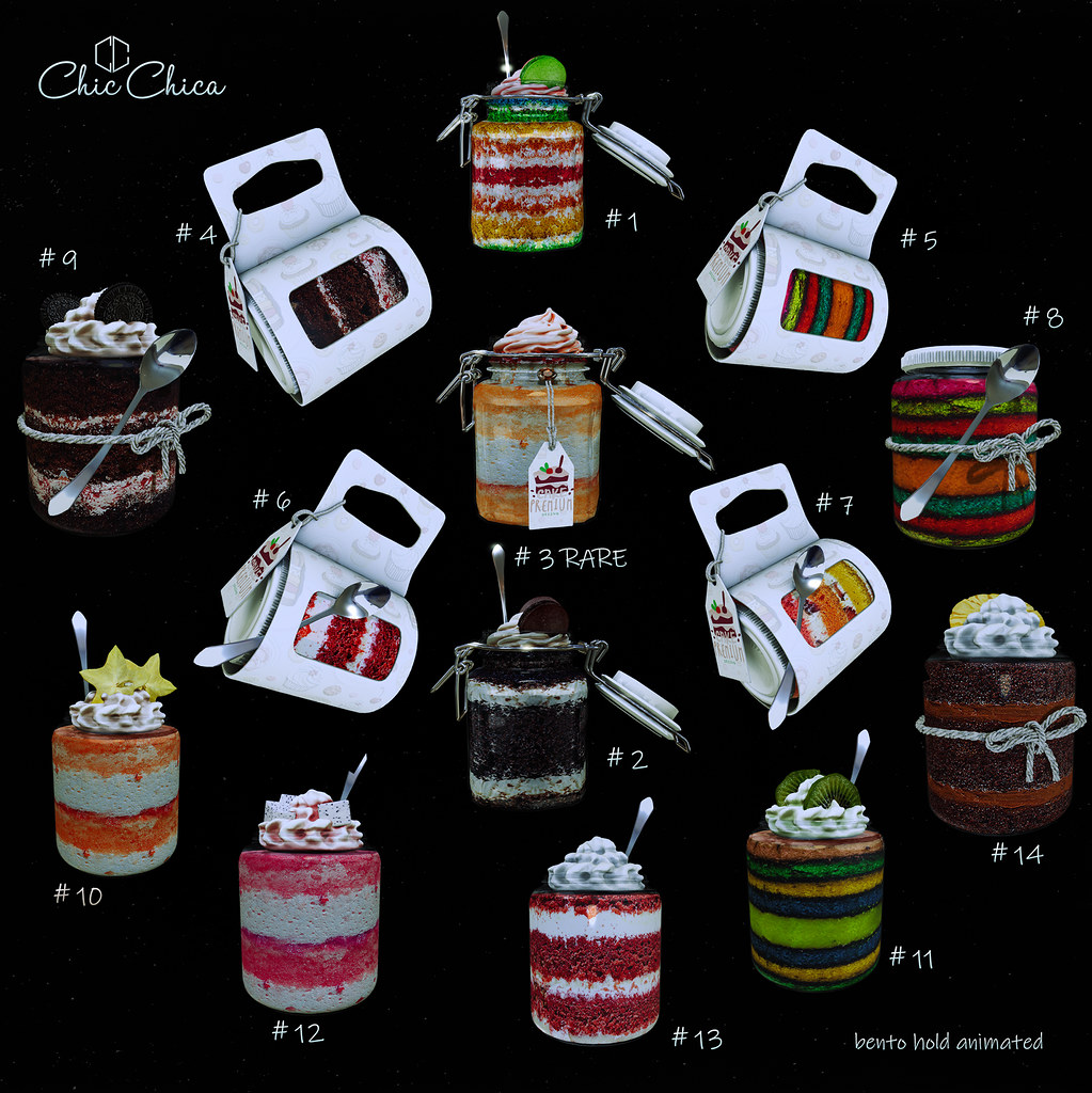 Cakes in Jars by ChicChica @ Arcade soon - TeleportHub.com Live!