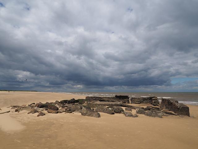 Titchwell Beach WW2 Ruins