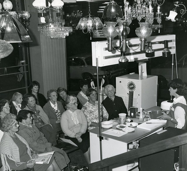 Cooking Demonstrations, DCC Electricity Department Showrooms c1970