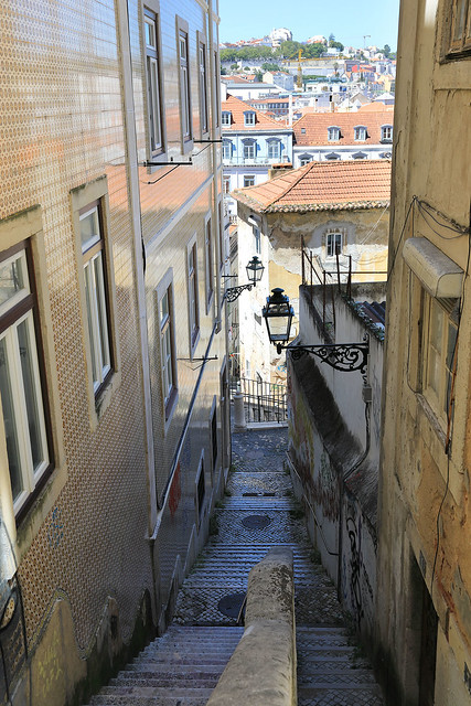 Lisbon is a hilly town