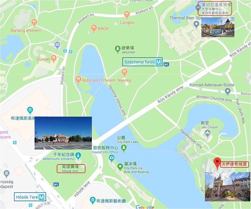 布達佩斯城市公園地圖