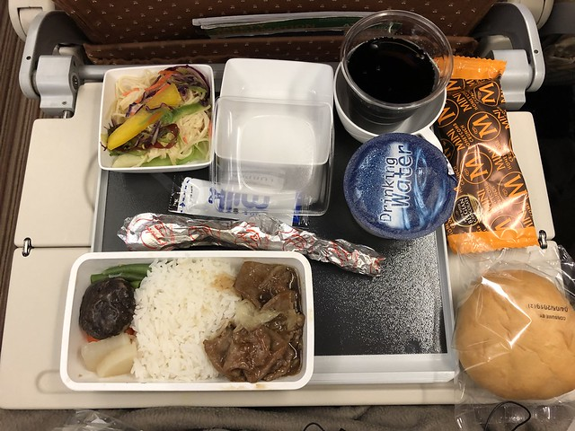 Inflight meal from SQ