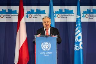 Secretary-General António Guterres visiting Vienna