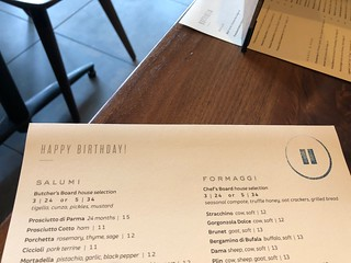 Happy Birthday menu at Pausa in San Mateo | by Neeta Lind