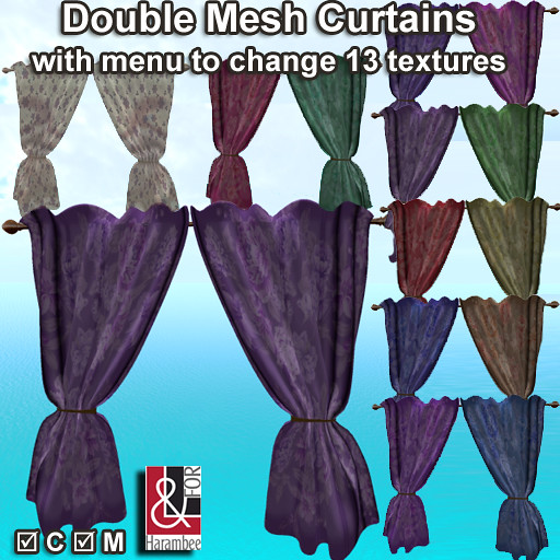 Double mesh curtains