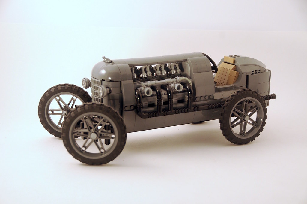 Old Time Race Car (custom built Lego model)