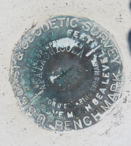 USCGS Bench Mark Apalachicola 1934