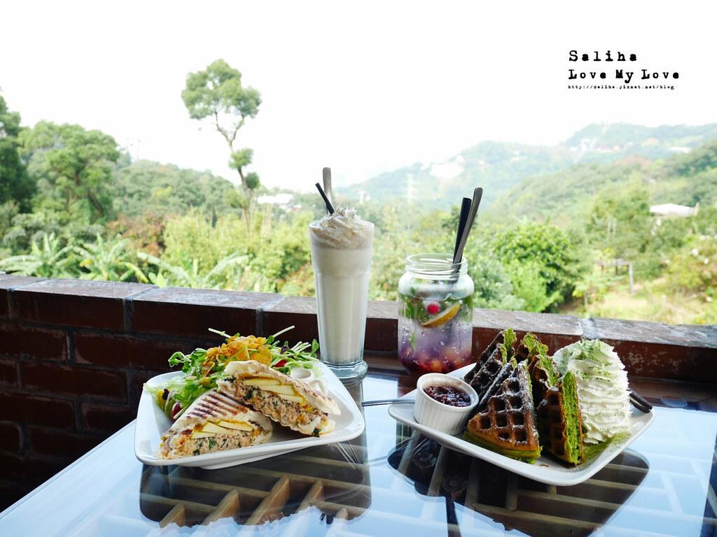 台北文山區貓空景觀餐廳紅木屋咖啡下午茶鬆餅好吃餐點推薦 (1)