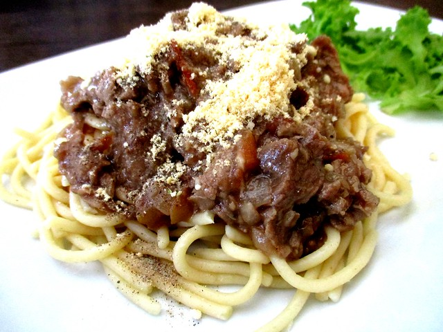 Beef spaghetti