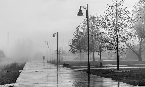 After the fog rolled in - Woodbine Beach boardwalk, Toronto | by Phil Marion (177 million views - THANKS)