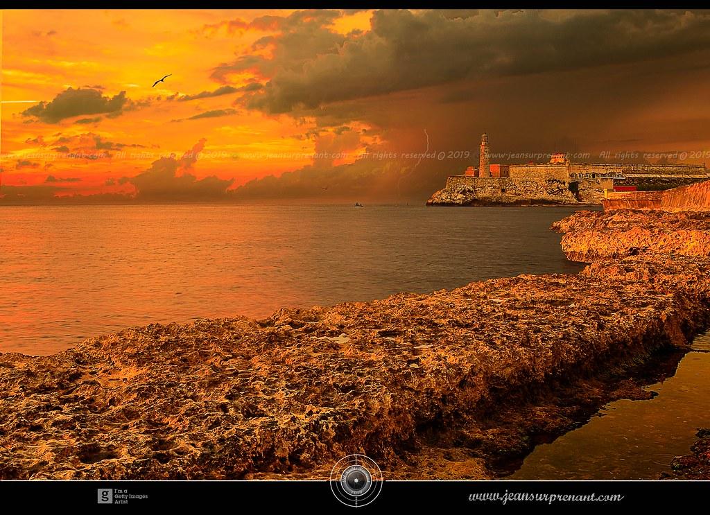Stormy sunset Havane Cuba, DRI