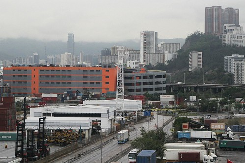 Freight depots at the Kwai Tsing Container Terminals