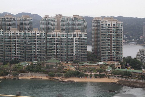 Apartment blocks of the Park Island development on Ma Wan