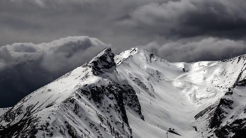 rock water cloud snow alpes provence france blackandwhite