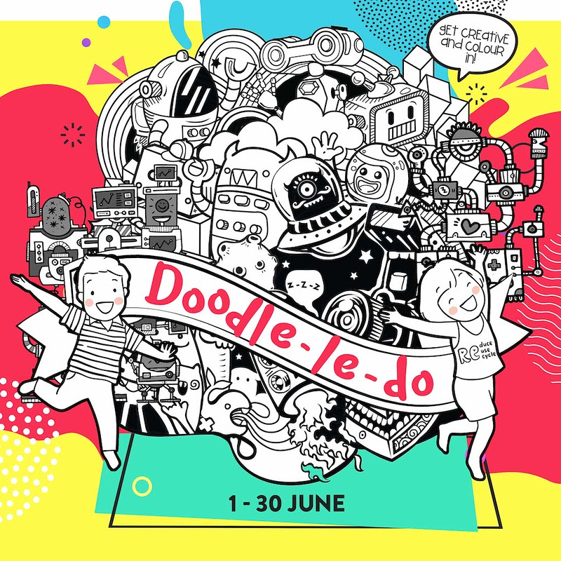 United Sq Doodle Le Do, June Holidays 2019