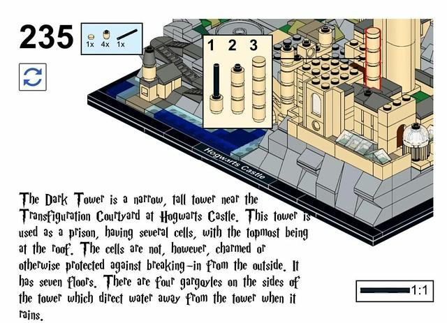 Hogwarts Castle Architecture LEGO MOC