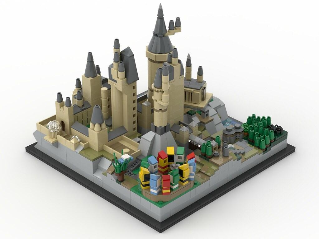 STREET SIGHT MOC-25280 Hօgwarts Castle Architecture by MOMAtteo79 MOCBRICKLAND