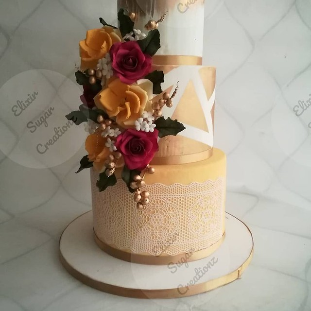 Cake by Drishya L S of Elixir Sugar Creations