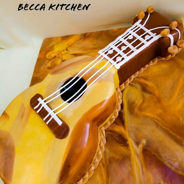 Guitar Cake by Rebecca Ochola of Becca Kitchen
