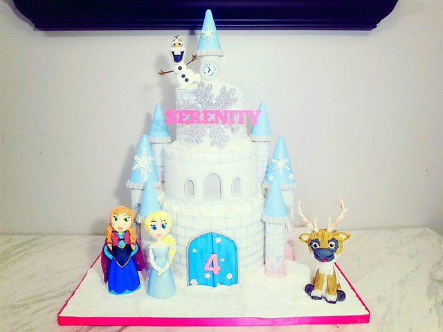 Frozen Castle Cake with Edible Figurines by Montana Rae