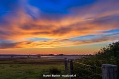 Beautiful colored sunset sky