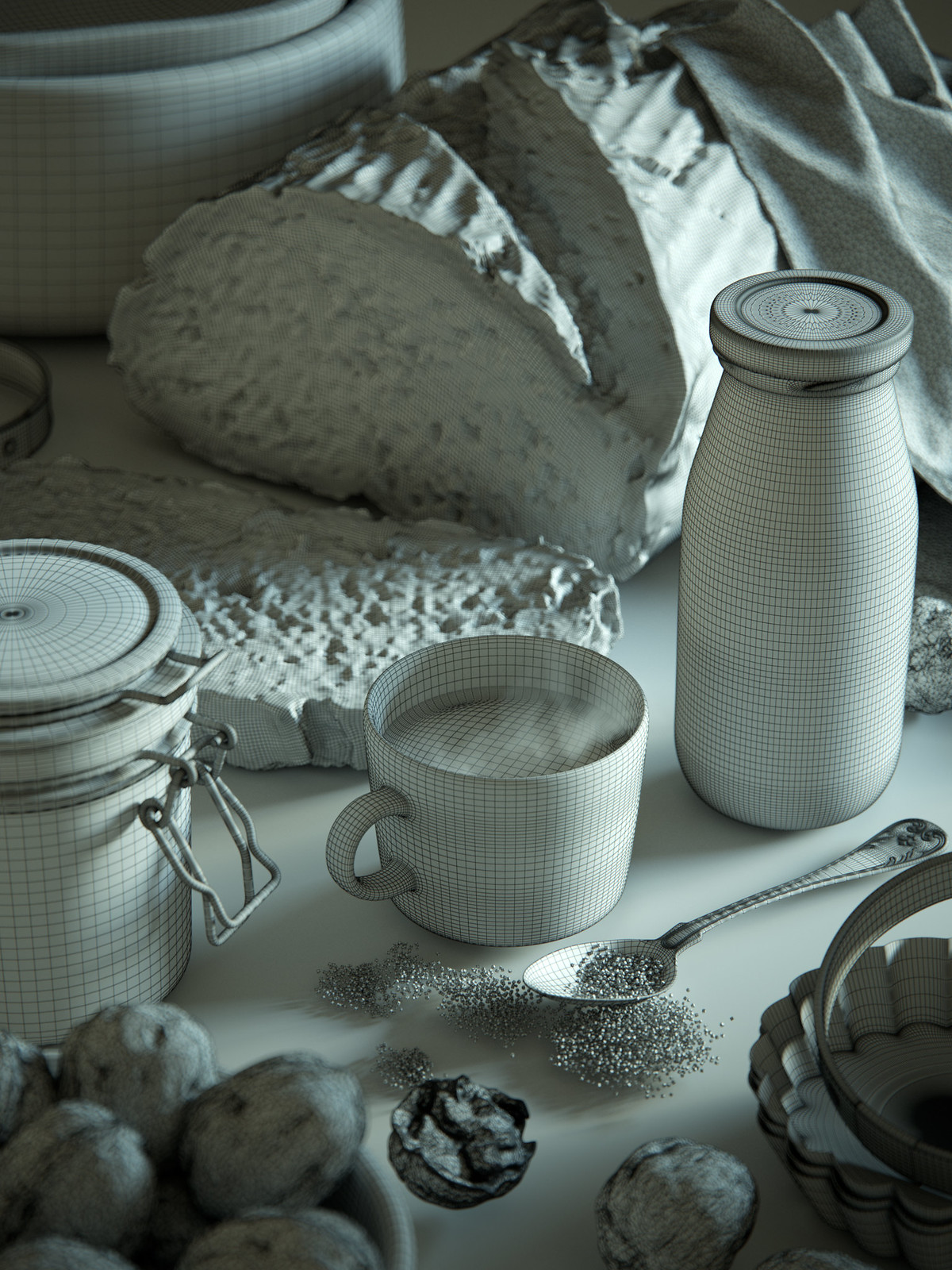 Still Life with Milk and Sugar