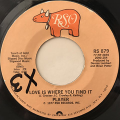 PLAYER:BABY COME BACK(LABEL SIDE-B)