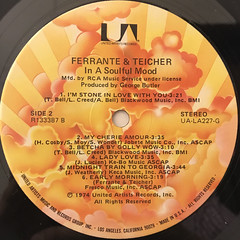 FERRANTE & TEICHER:IN A SOULFUL MOOD(LABEL SIDE-B)