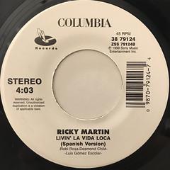 RICKY MARTIN:LIVIN' LA VIDA LOCA(LABEL SIDE-B)