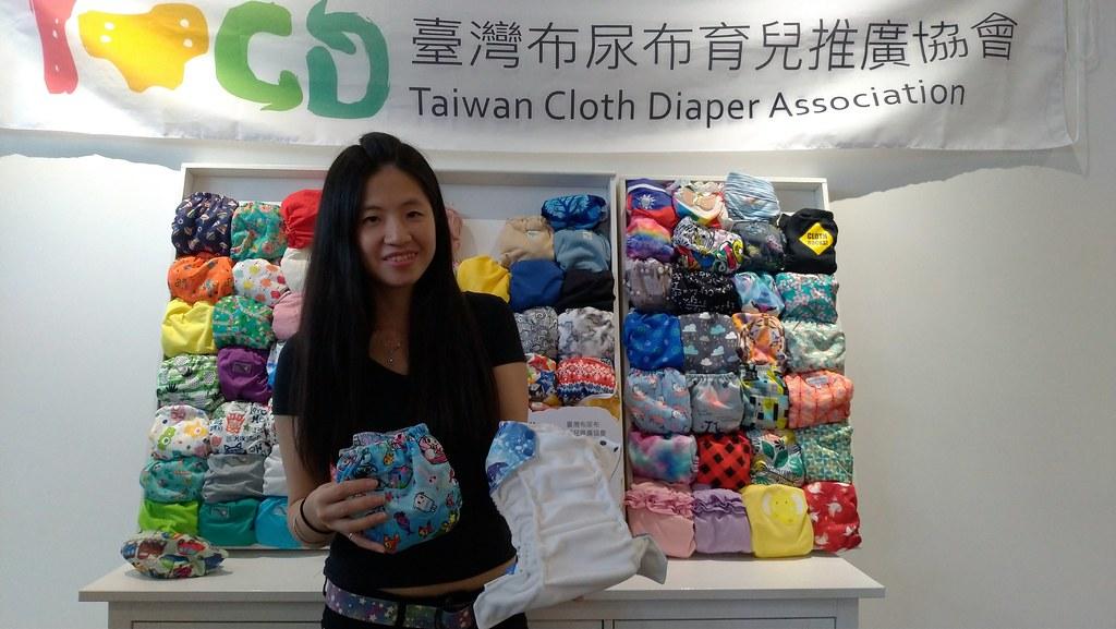 台灣布尿布育兒推廣協會蔣琍表示,希望透過協會讓更多人感受布尿布的優點。孫文臨攝