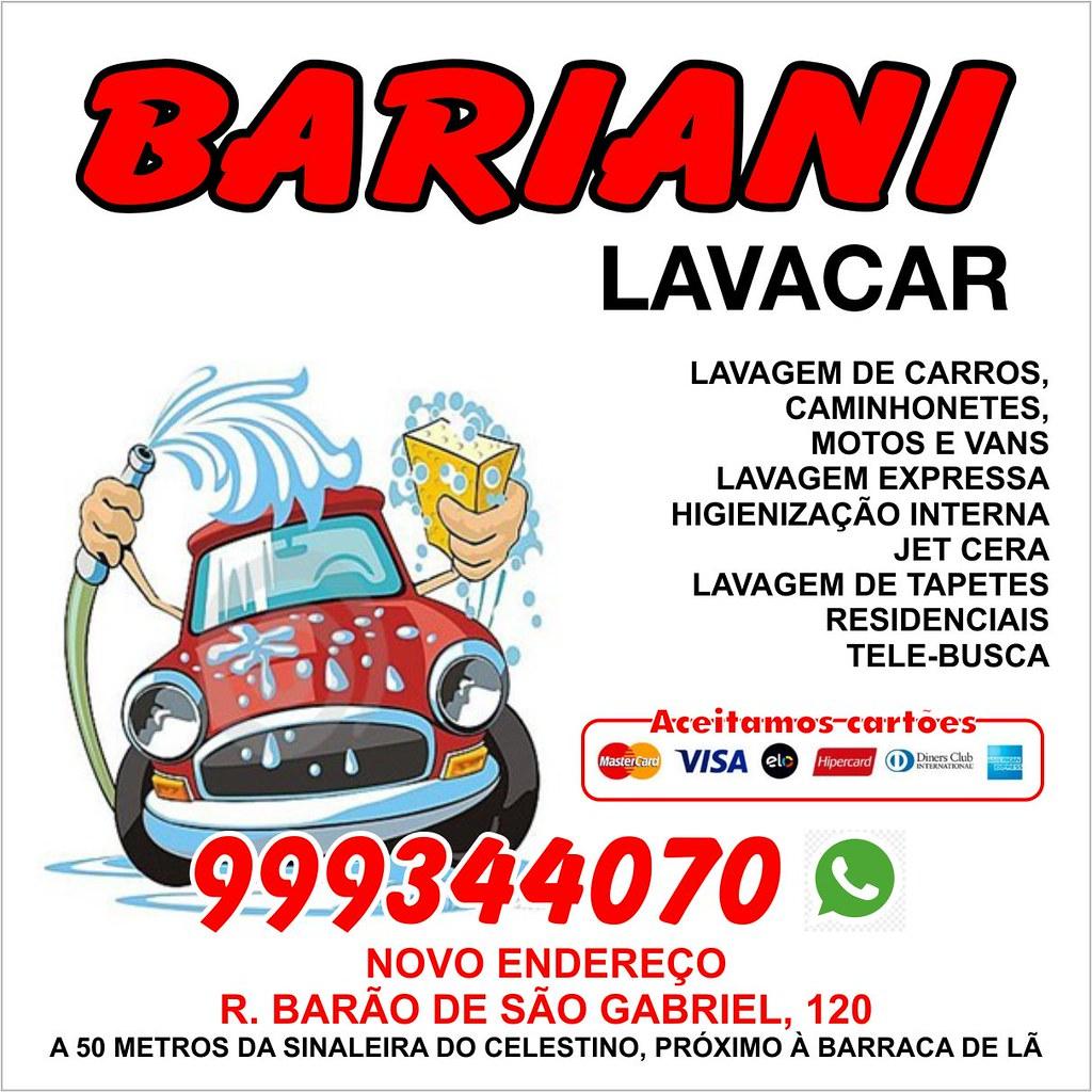 Bariani Lavacar agora em novo endereço