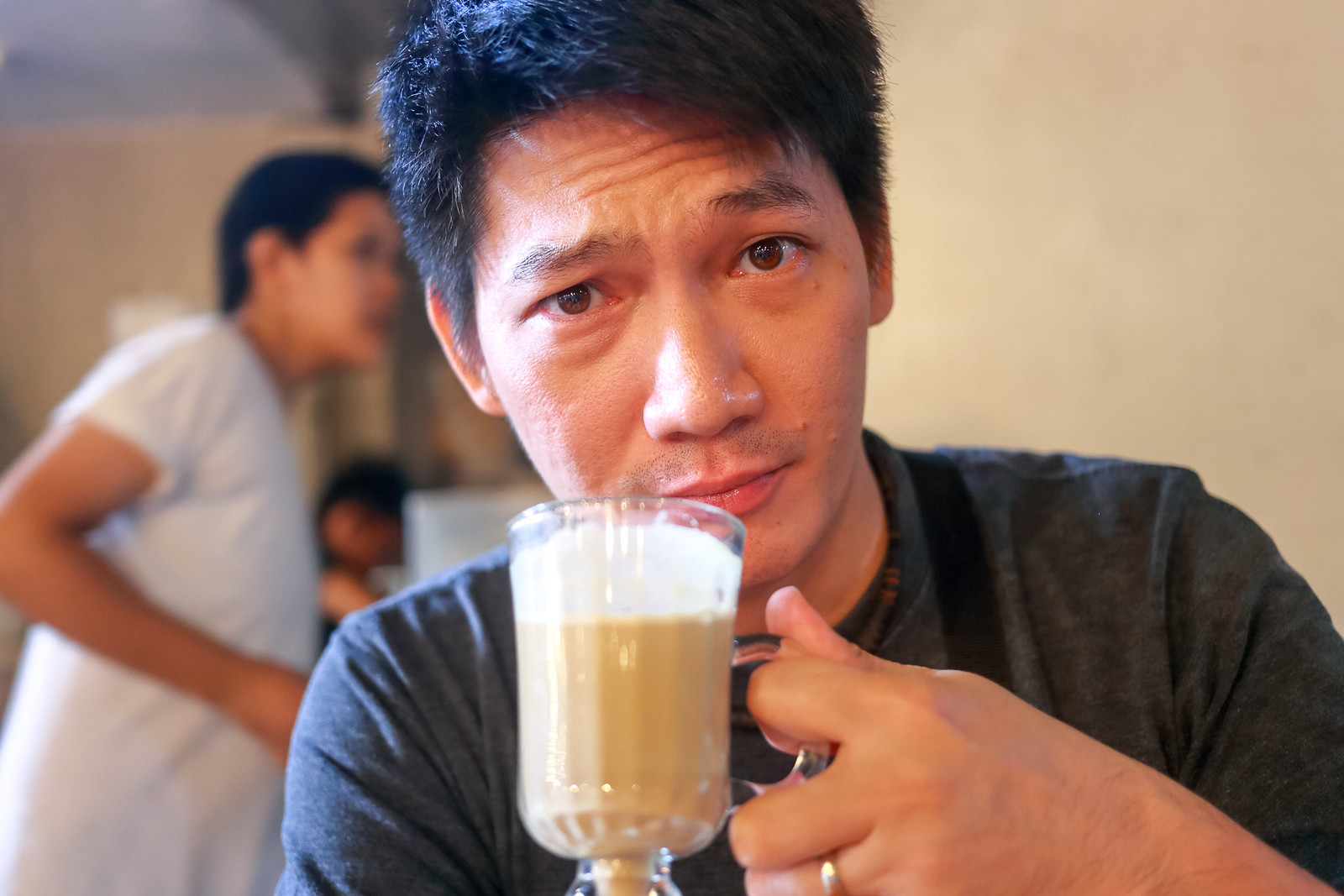 Brian with Kape Latte
