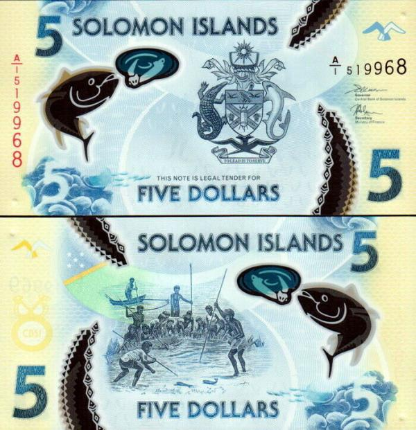 5 Dolárov Šalamúnove ostrovy 2019, P32 UNC polymer