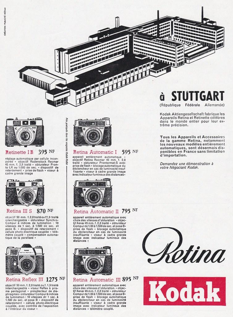 Kodak Retina / Retinette advertising  1964