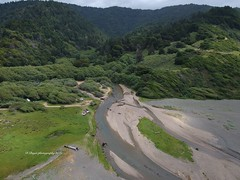 Aerial photos taken over Usal Beach at the Lost Coast.