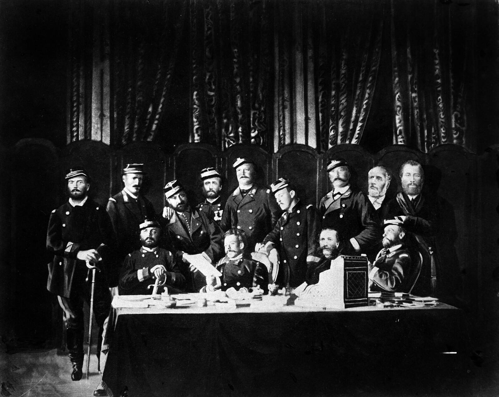 1871. Члены Коммуны в парижской ратуше
