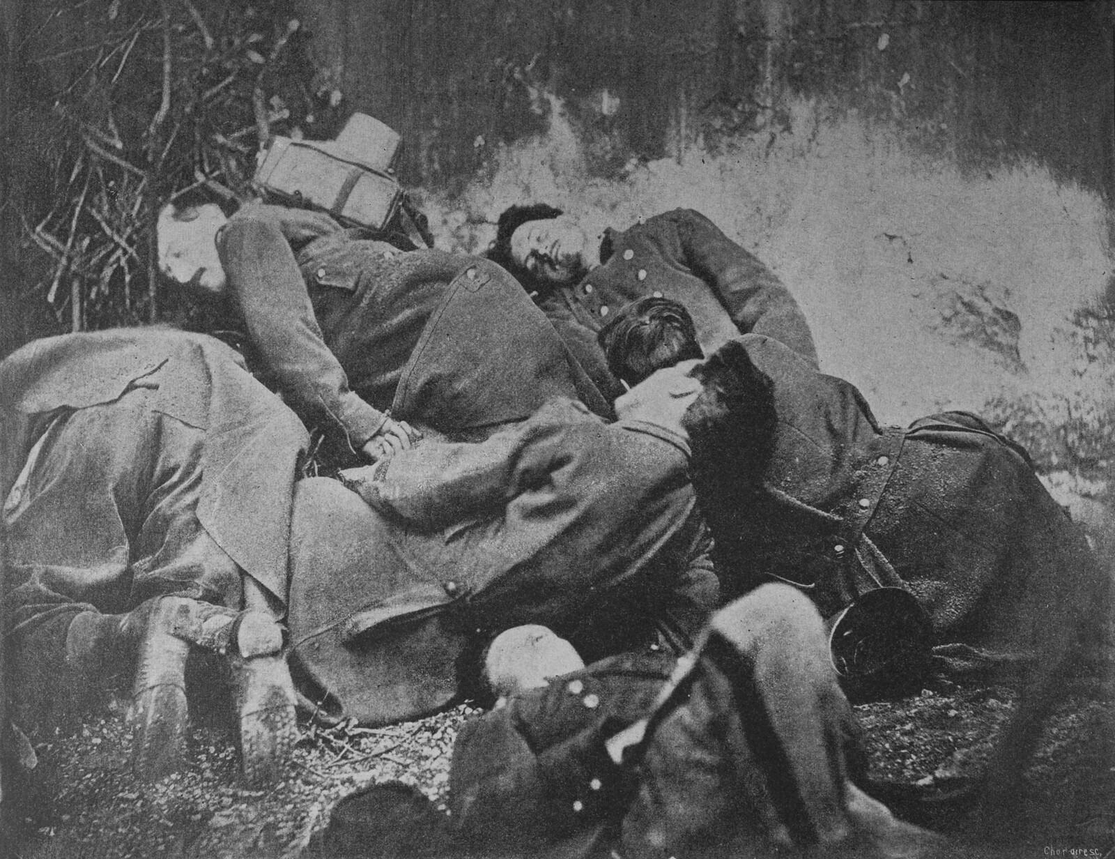 1871. Солдаты Коммуны, казненные версальскими войсками в марте-мае 1871 г. в районе Парижа