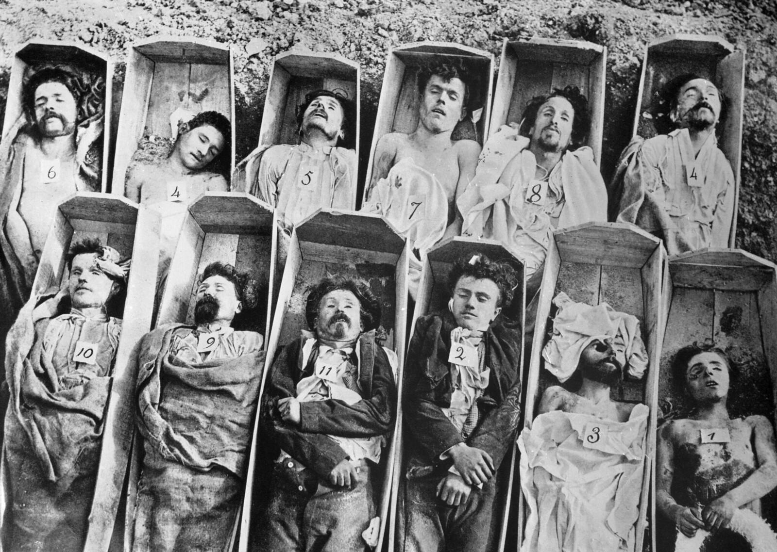 1871. Трупы коммунаров, расстрелянных версальцами