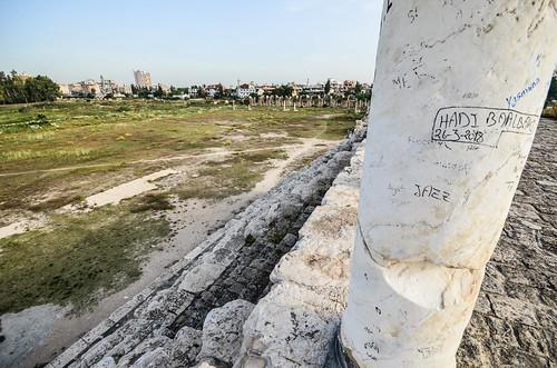 libanon lebanon liban tyre tyrus terugkeer unifil dutchbatt hippodroom hippodrome unesco museum romans renbaan strijdwagen historical site