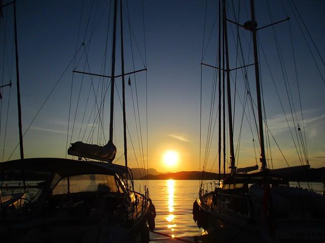 Poros sunset