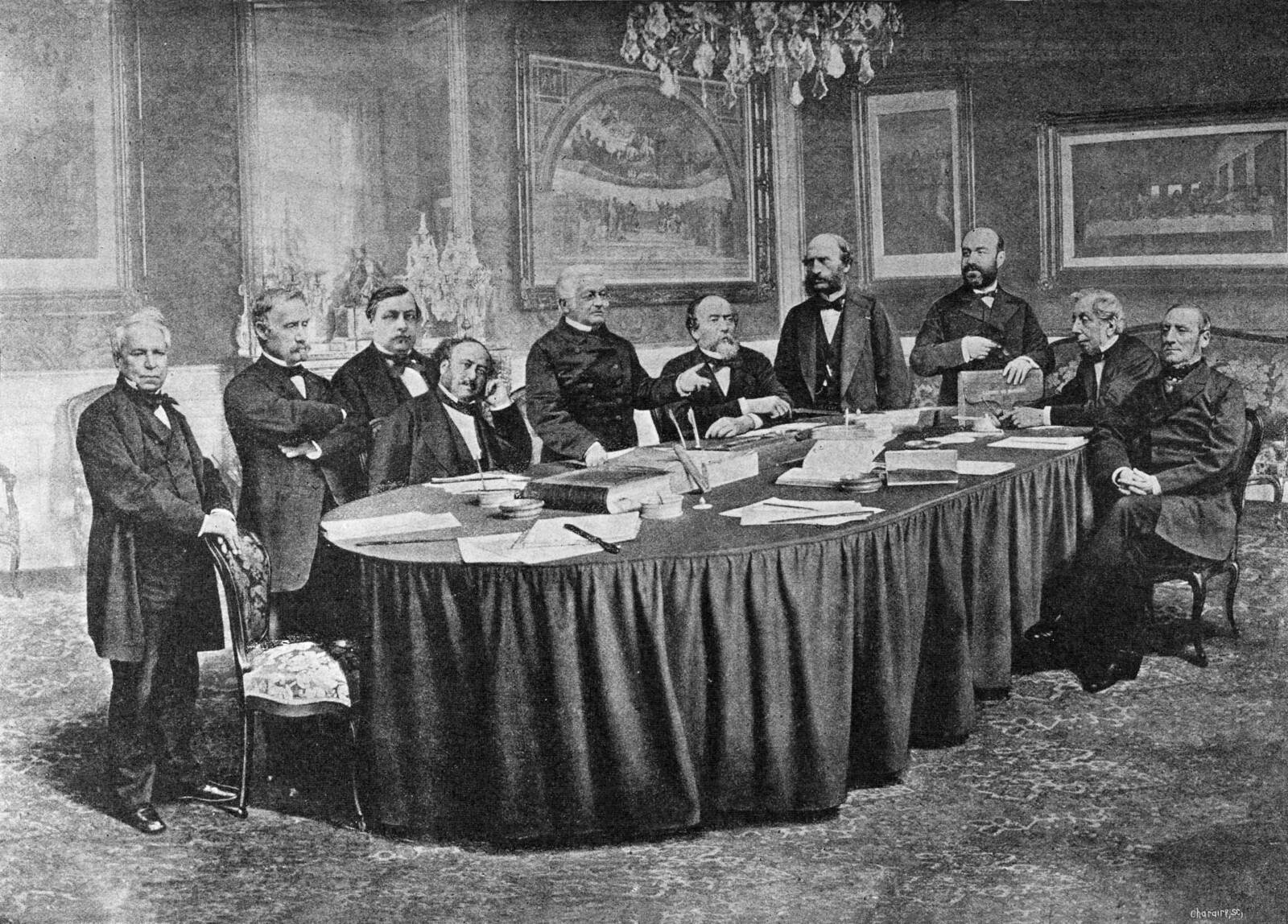 1871. Французский совет министров, Версаль, май
