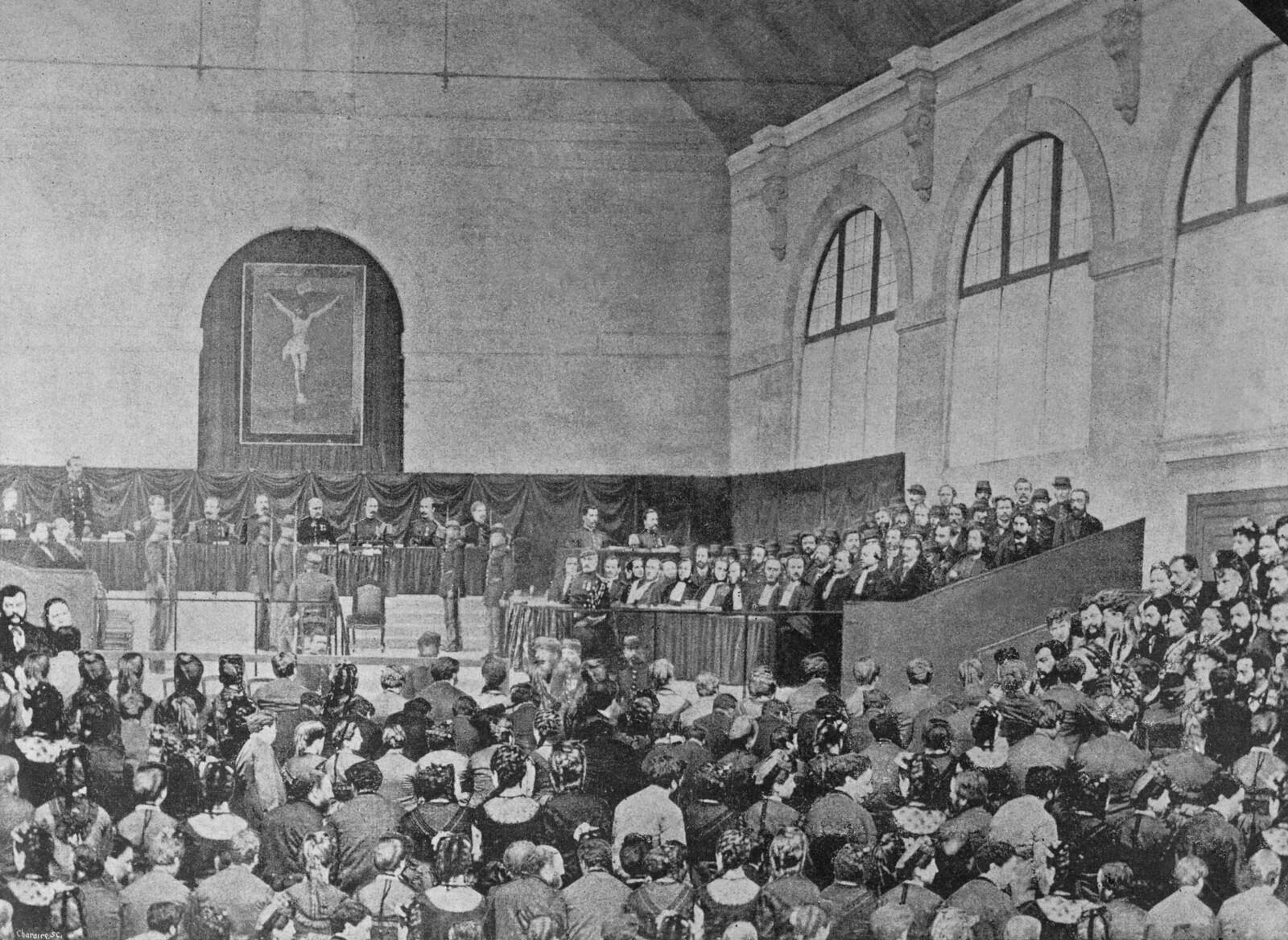 1871. Лидеры Коммуны на суде 2 сентября в Версале