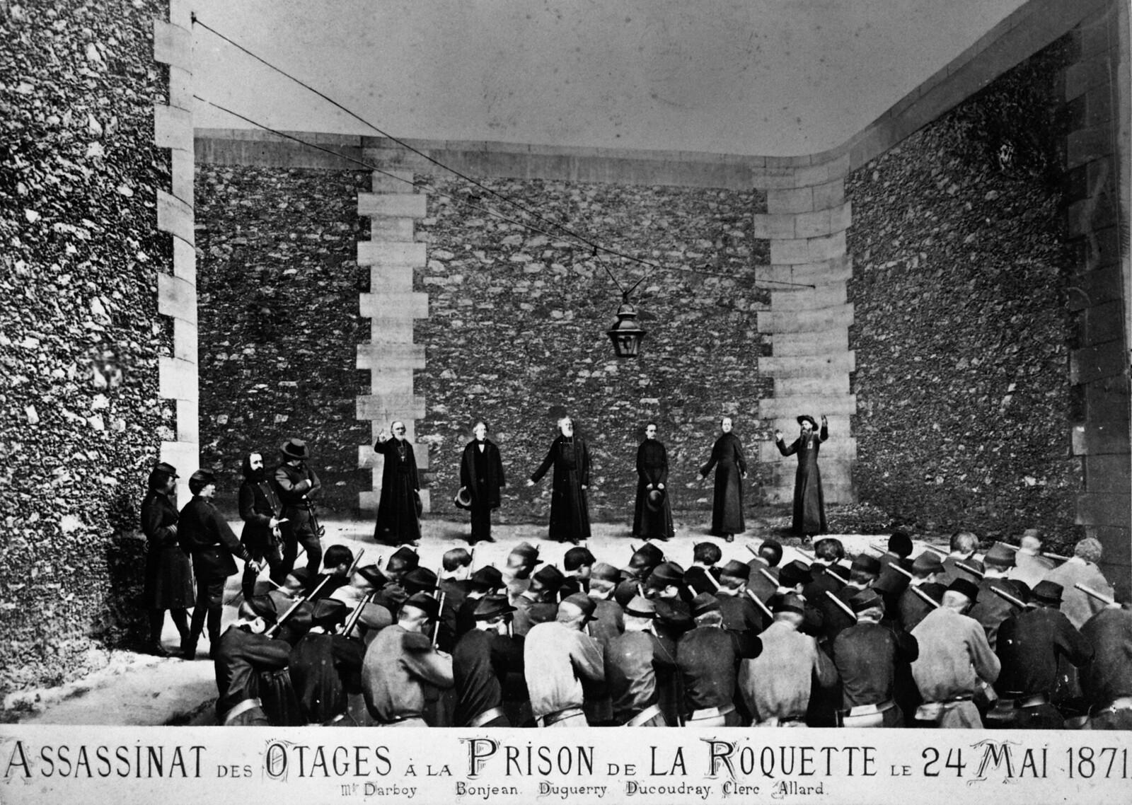 В последние дни Парижской коммуны заложники, среди которых были  архиепископ Парижа Жорж Дарбуа, председатель Верховного суда Бонжан и священники Аллард, Клерк, Дюкудрей и Дюгерри были убиты повстанцами в отместку за расстрелы версальцами коммунаров